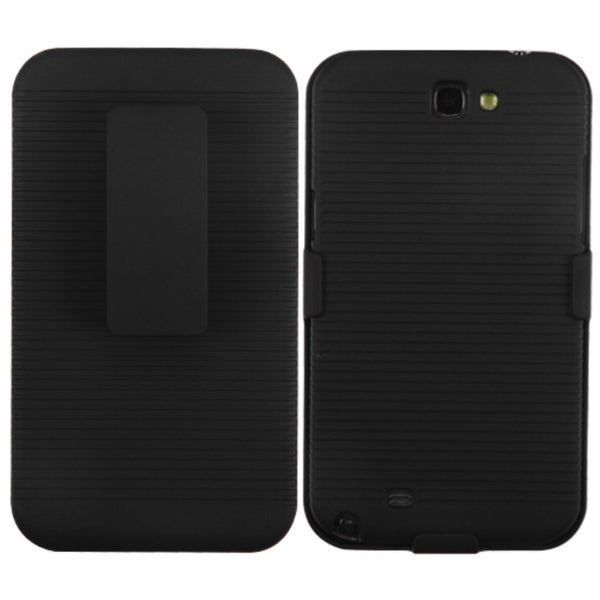 INSTEN Black Hybrid Holster for Samsung Galaxy Note II