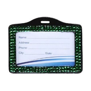 INSTEN Green Horizontal Business Card Holder