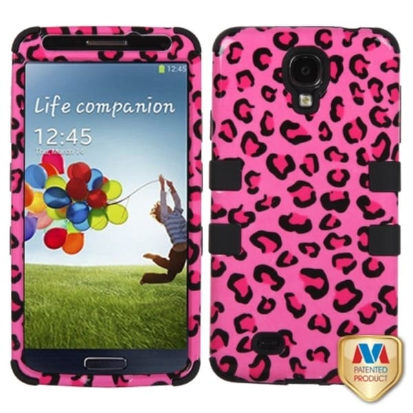 INSTEN Leopard/ Black TUFF Hybrid Phone Case Cover for Samsung Galaxy S4 i9500