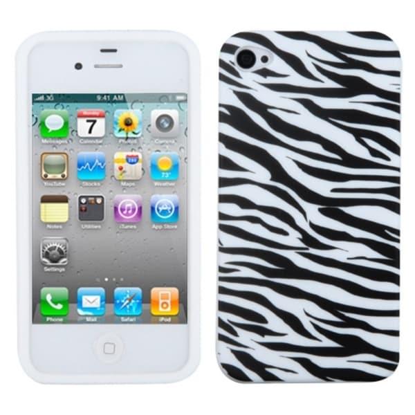INSTEN Zebra Skin Phone Case Cover for Apple iPhone 4S/ 4