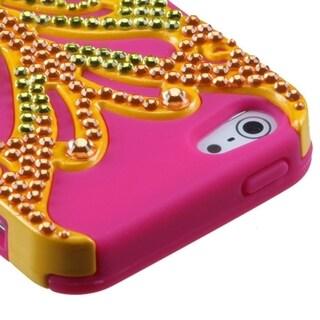 INSTEN Butterfly Kiss/ Diamond Hybrid Phone Case for Apple iPhone 5/ 5C/ 5S/ SE