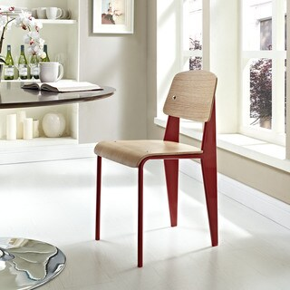 Cabin Plywood Dining Chair in Red