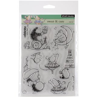 """Penny Black Clear Stamps 5""""X6.5"""" Sheet-Sweet & Cute"""