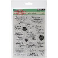 "Penny Black Clear Stamps 5""X6.5"" Sheet-Eloquence"