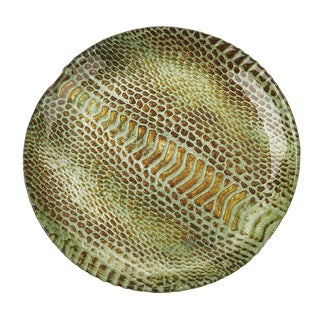Snakeskin Salad Canape Turquoise Gold Plate
