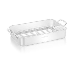 Chef's Classic 14 Stainless Steel Lasagna Pan with Roasting Rack