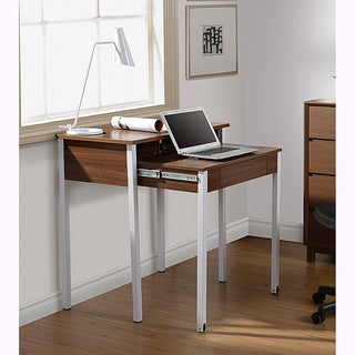 Modern Design Space-saving Retractable Student Desk (Option: Walnut)