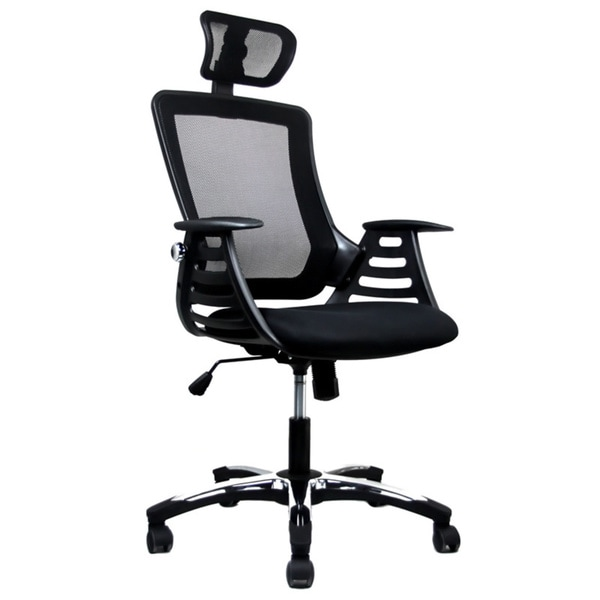 executive black high back headrest mesh office chair free shipping