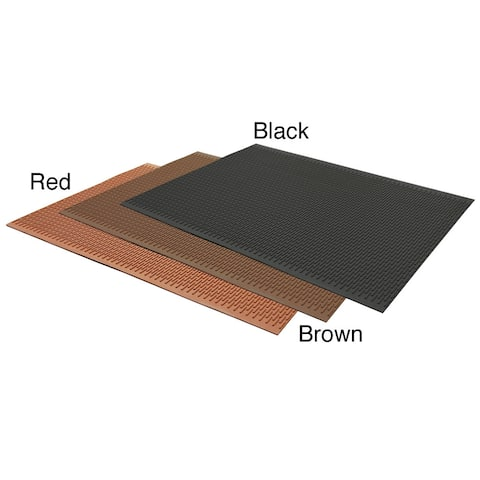 """Rubber-Cal Safe-Grip Traction Mat 7mm T x 34"""" W x 24"""" L Red"""