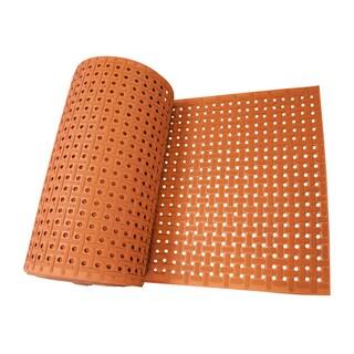 Rubber-Cal 'Paw-Grip' Anti-slip Red Floor Mat