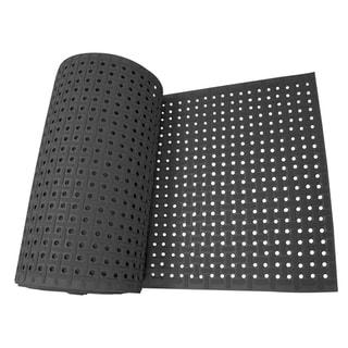 "Rubber-Cal 'Paw-Grip' Anti-slip Black Floor Mat - 3/8"" x 34"" x 120"""