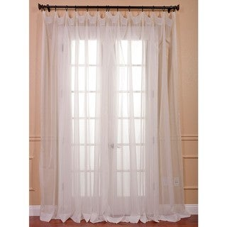 Exclusive Fabrics White Doublewide Voile Sheer Curtain Panel