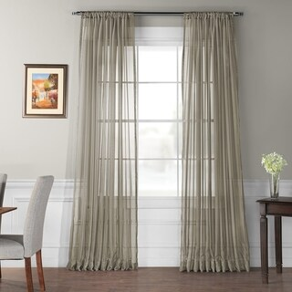 Exclusive Fabrics Signature Extra Wide Sheer Curtain Panel