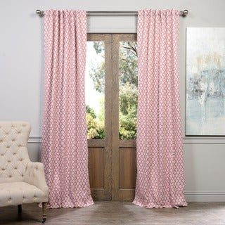 Exclusive Fabrics Casablanca Rose Rod Pocket Blackout Curtain Panel Pair