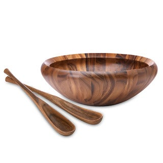 Dansk Wood Classics Round Salad Bowl