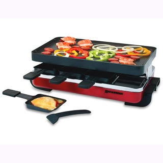 Swissmar KF-77043 Red Enamel/ Black 8-person Classic Raclette Party Grill
