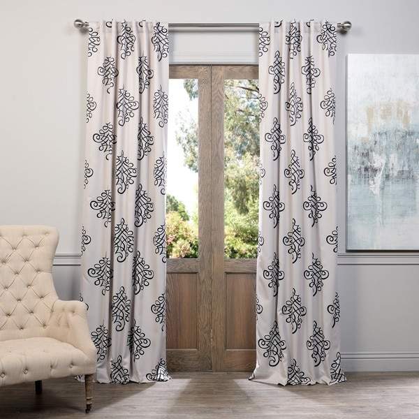 Exclusive Fabrics Tugra Printed Blackout Pole Pocket Curtain Panel Pair