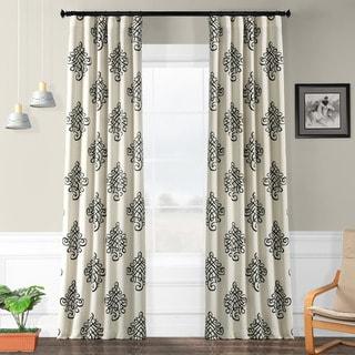 Exclusive Fabrics Tugra Printed Blackout Pole Pocket Curtain Panel Pair