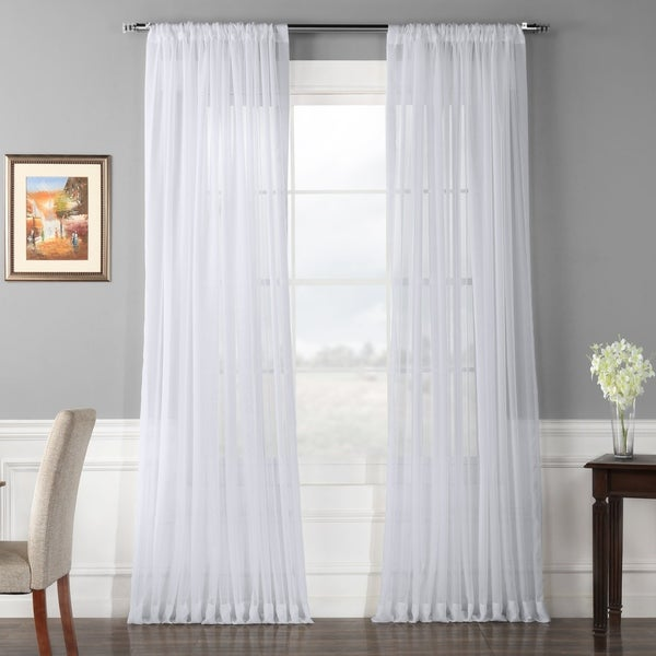 Exclusive Fabrics Extra Wide White Voile Sheer Curtain Panel. Opens flyout.