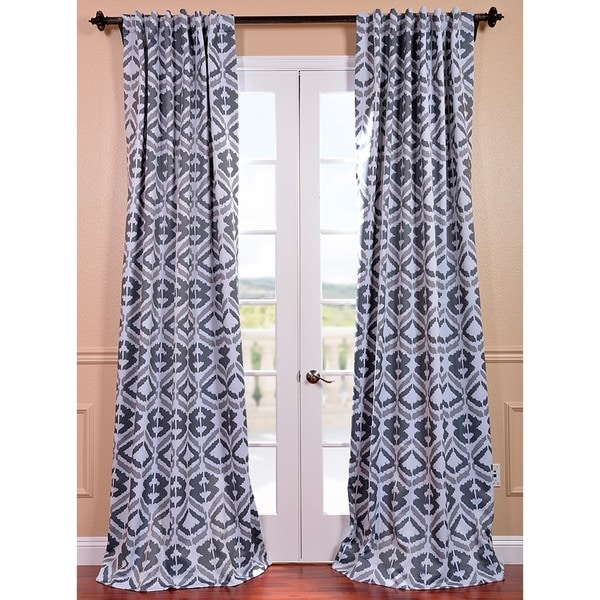 Exclusive Fabrics Santos Printed Blackout Curtain Panel Pair