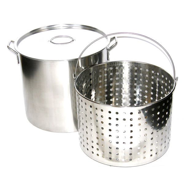 Browne Thermalloy 80 Qt Stainless Steel Stock Pot 57 23980