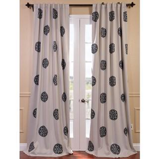 Exclusive Fabrics Kabuchi Print Rod Pocket Blackout Curtain Panel Pair