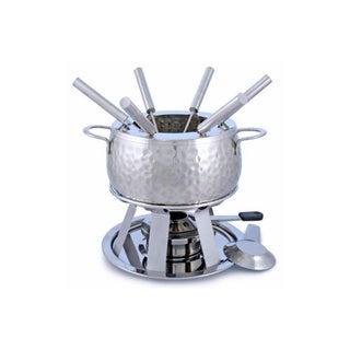 Swissmar F66917 Bienne Stainless Steel 11-piece Meat Fondue Set
