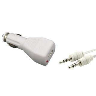 INSTEN Car Charger/ 3.5mm Audio Cable for Apple iPhone 4/ 4S/ 5