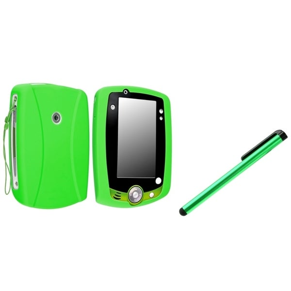 INSTEN Green Soft Silicone Phone Case Cover/ Green Stylus for Leapfrog LeapPad 2