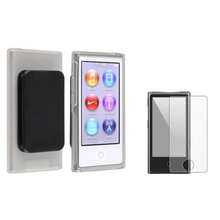 INSTEN Clear iPod Case Cover with Belt Clip/ LCD Protector for Apple iPod Nano 7