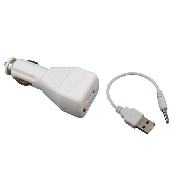 INSTEN Car Charger/ USB Adapter for iPod Shuffle 2