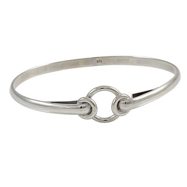 Handcrafted Sterling SilverTriple Circles Bangle Bracelet (Mexico)