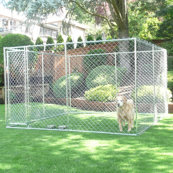 Lucky Dog 2-in-1 Chain Link Box Kennel