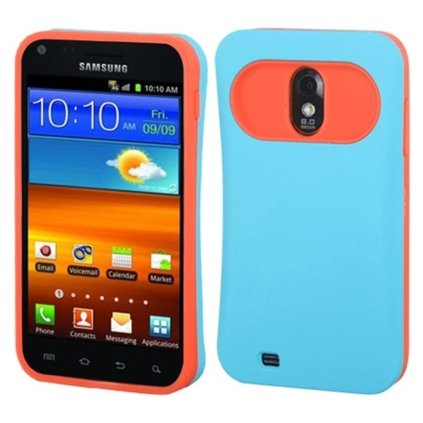 INSTEN Baby Blue/ Orange Card Wallet Phone Case Cover for Samsung Epic 4G Touch