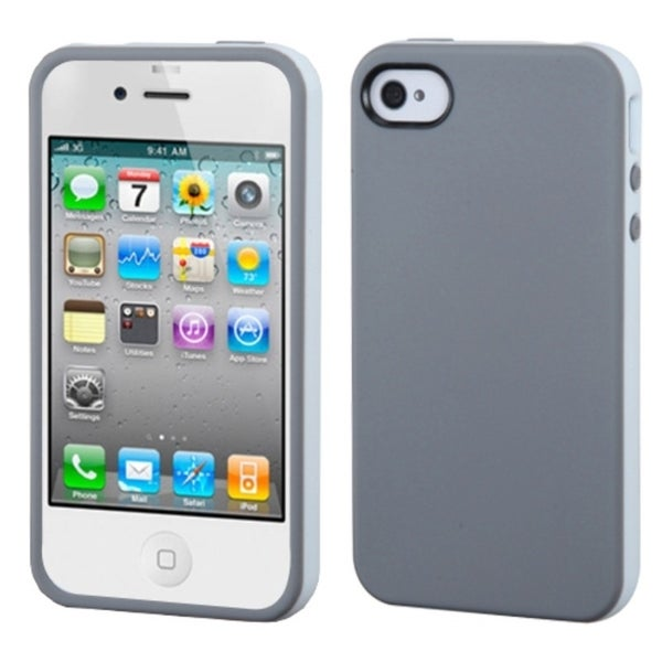 BasAcc Dark Gray/ White Candy Skin Case for Apple® iPhone 4/ 4S
