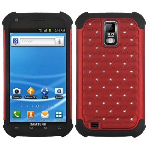 BasAcc Red/ Black TotalDefense Case for Samsung© T989 Galaxy S II