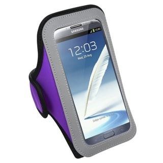 INSTEN Purple Vertical Pouch Armband for Samsung Note II T889/ N7100