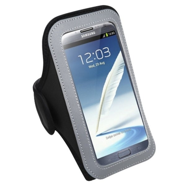 INSTEN Black Vertical Pouch Armband for Samsung Note II T889/ N7100