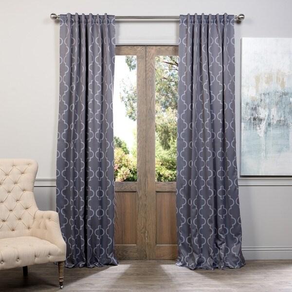 Exclusive Fabrics Seville Print Blackout Curtain Panel Pair