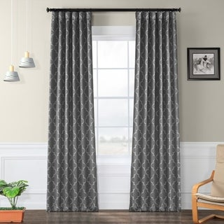 Exclusive Fabrics Seville Print Blackout Curtain Panel Pair