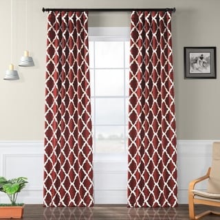 Exclusive Fabrics Trellise Print Blackout Curtain Panel Pair