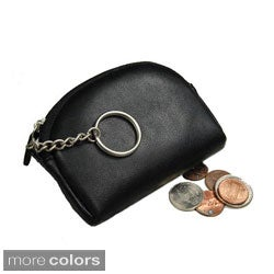 Castello Nappa Leather Top-zip Coin Purse