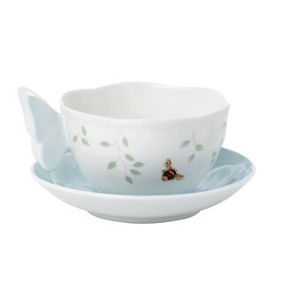 Lenox Butterfly Meadow Blue Butterfly Cup Saucer Set
