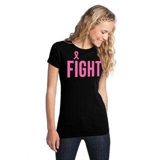 Women's 'Fight Breast Cancer' Black Awareness T-Shirt