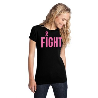 Women's 'Fight Breast Cancer' Black Awareness T-Shirt