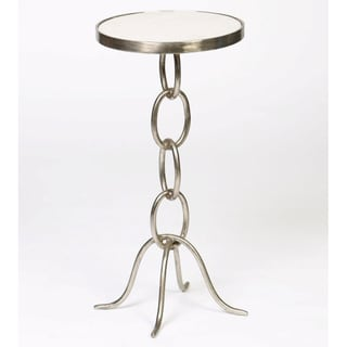 Small Chain Link End Table with Granite Top