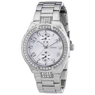 Guess Women's Crystal-accented Stainless Steel Watch