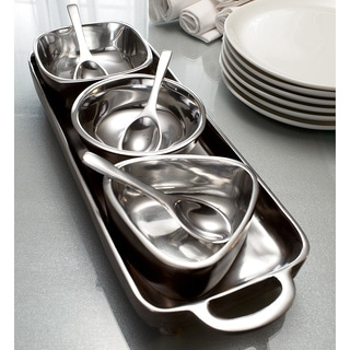 7-piece Tray and Bowl Condiment Set