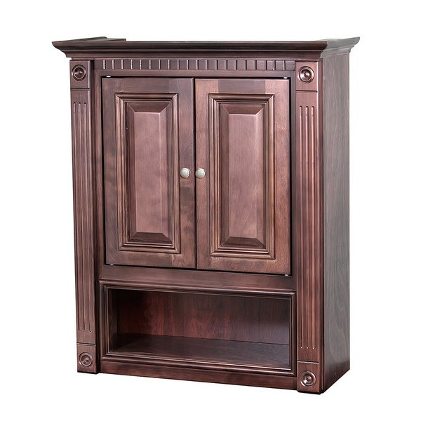 cherry bathroom storage cabinet shop cherry bathroom wall cabinet free shipping today 13485