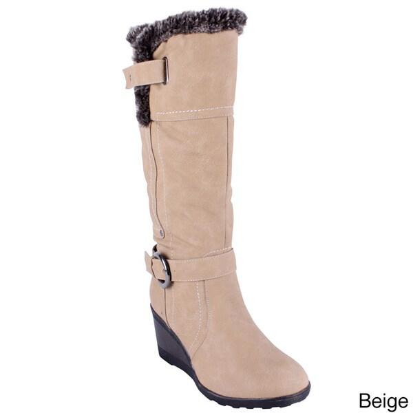 Reneeze Women's 'ADDIE-02' High Heel Knee-high Boots